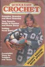 Quick & Easy Crochet Magazine Sept/Oct 1987