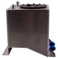 Universal 10L 2.5 Gallon Fuel Cell Tank with Foam Lightweight Aluminum Polished
