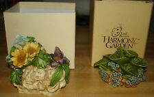Harmony Kingdom Alpine Flower & Forget Me Not Figurines w/Boxes