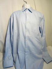 BANANA REPUBLIC pale blue LS shirt non iron classic cotton MEN XL 17 17.5
