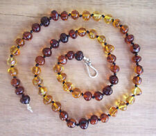 PREMIUM DARK RAINBOW 44cm ADULT CHILD NECKLACE BALTIC AMBER 8 to 8.5mm FREE POST