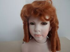10 inch Dolls Wig in RED LONG RINGLETS WITH A FRINGE. CODE 1014 CARLOTTA