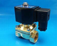 """3/4"""" NPT 12-VOLT DC Electric N/C Brass Solenoid Valve: Air Water Vacuum Diesel"""