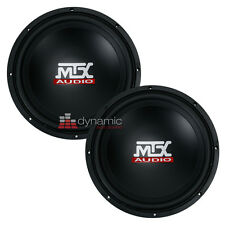 "Two (2) MTX Audio TN10-04 Car 10"" Terminator Series Single 4 ohm Subwoofers 600W"