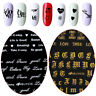 English Letter Nail Art Sticker 3D Transfer Decal Manicure Decor Adhesive Tips-