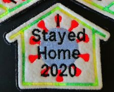 Embroidered Sew Iron On Patches - Lockdown Stayed Home