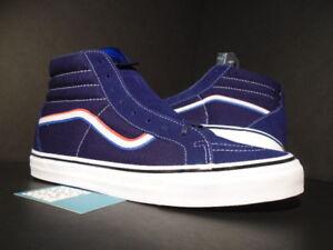 VANS SK8-HI REISSUE LX BLENDS x BORN FREE BLUE RED WHITE USA VN000XH5PYQ OG 11.5
