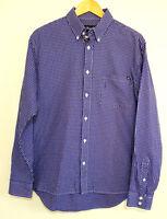 WRANGLER Mens Purple Brick Check Cowboy Western Long Sleeve Shirt Size M