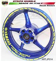 "Adesivi fluo Factory Racing per ruote cerchi 17 pollici moto Yamaha ""JP014"""