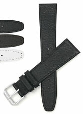 Bandini Watch Band, Leather Strap, Buffalo Pattern, 8mm - 20mm, Extra Long Also