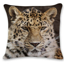 3d Owl Wolf Tiger Animal Sofa Bed Car Home Decor Pillow Case Cushion Cover Throw Soild Yellow