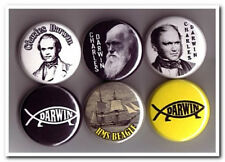 Charles DARWIN Buttons Pins Badges geologist evolution natural selection