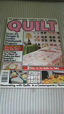 VTG Quilt 1979 Pattern Magazine - Patchwork Projects, Baby, Placemats, Skirt