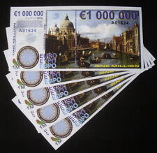 Lot Of 5 Europe One Million Euro Polymer Copernicus Star Trek Fantasy Art Notes!