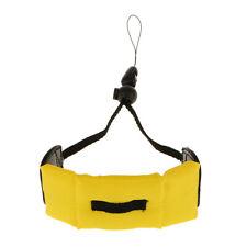 Yellow Floating Foam Camera Wrist Strap for Nikon Coolpix AW100 Waterproof