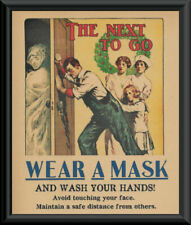 1918 Wash Your Hands Pandemic Poster Reprint On 100 Year Old Paper 258
