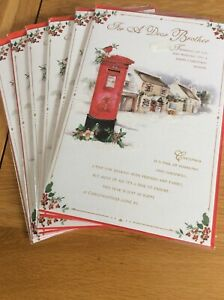 For A Dear Brother. Large Quality Christmas Xard. Lovely Words. Code 75