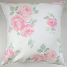 """Shabby Chic Cushion Cover in Laura Ashley Albertine Blush Pink Rose Floral 16"""""""