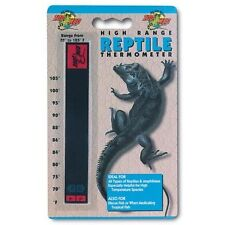 Zoo Med Reptile High Range Thermometer Thermostat Liquid Crystal