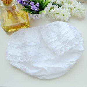 Baby Girls Frilly Lace Underwear Knickers Pants Wedding Christening Birthday