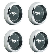 "New! 1965-1973 Ford MUSTANG Magnum 500 Wheel Center Caps Chrome 2 1/8"" size Set"