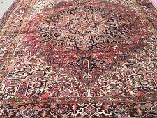 "Hand Knotted Persian-TABRIZ-Heriz Geometric Rug Antique Look 8 x10,8' 10''x9'10"""