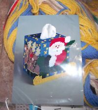Design Works SANTA SLEIGH Tissue Box Cover Plastic Canvas Kit