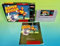 Super Soccer - SNES Super Nintendo Game COMPLETE CIB Rare Box + Manual