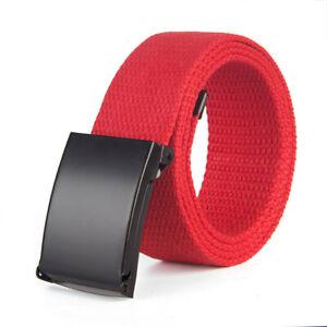 Unisex Men's Waistband Canvas Belts Military Web Belt Automatic Buckle Casual