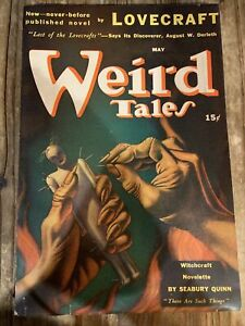 WEIRD TALES May 1941 pulp magazine VINTAGE HP Lovecraft Robot cover Bok Voodoo