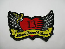 13 ROCKABILLY HEART Patch - Sew/iron on rider biker motorcycle High Quality