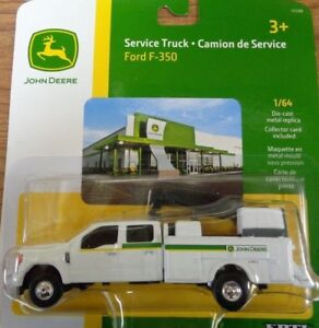 NEW John Deere Ford F350 Service Truck, Collector Card, 1/64 Scale LP64410