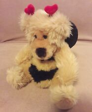 Russ Berrie tan Bumble Bee Teddy Bear Breezy Plush Stuffed Animal 9""