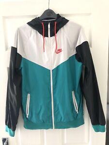Nike Men's Windrunner Jacket Windcheater White Black Green Size Small S