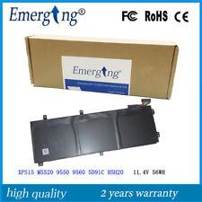 11.4v 56WH Genuine H5H20 Battery For Dell XPS15 M5520 9550 9560 5D91C