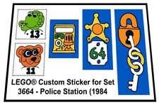 Replica Sticker for Fabuland set 3664 - Police Station (1984)