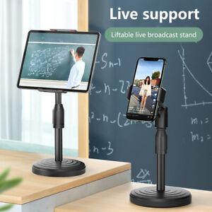 Smart Phone Tablet Holder Desk Stand Desktop Table Clamps Clip For Live Stream