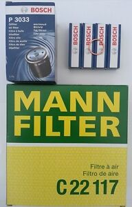 Service Kit Fits Porsche 924 2.0 Air Oil Filter Bosch Spark Plugs / Sump Washer
