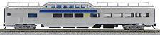 N Budd Passenger P-S Mid-Train Dome Car Via Rail (Silver/Blue/Yellow) (1-041538)