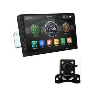 Car Radio Stereo Player Touch Screen Multimedia MP5 Bluetooth Mirror Link w/Cams