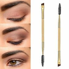 Beauty Makeup Bamboo Handle Eyebrow Brush + Eyebrow Comb Double-Ended Brushes