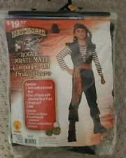 Buccaneer Rogue Pirate Mate Costume Boy 8-10 NWT 4-piece