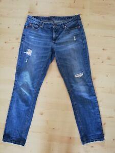 Cambio Jeans Used Look Gr. 40, Nieten/Glitzerdetails
