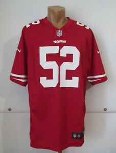 SAN FRANCISCO 49ERS #52 PATRICK WILLIS FOOTBALL JERSEY SHIRT VTG NIKE NFL SIZE L