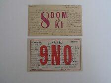 1935 Postal Return Card(s) Short Wave Call Numbers, sent to Tavis City MI