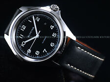 New Glycine 42mm Combat 7 Swiss ETA 2824 Automatic Black Sapphire SS Watch 3898