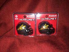 Lot of 2 Riddell pocket pro football helmets Arizona State Sun Devils