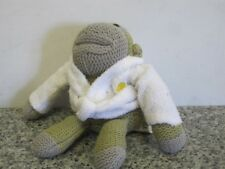 HEY MONKEY IN WHITE BATH ROBE PG TIPS TEA TV CHIMP SOFT TOY BEANIE JOHNNY VEGAS