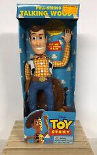 Vintage 1995 Toy Story Disney Pixar Original Pull-String Talking Woody Thinkway!