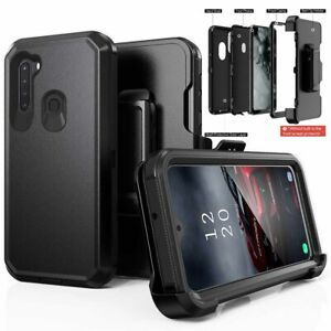 For Samsung Galaxy A21S Case Heavy Duty Shockproof Cover+Belt Clip Fits Otterbox